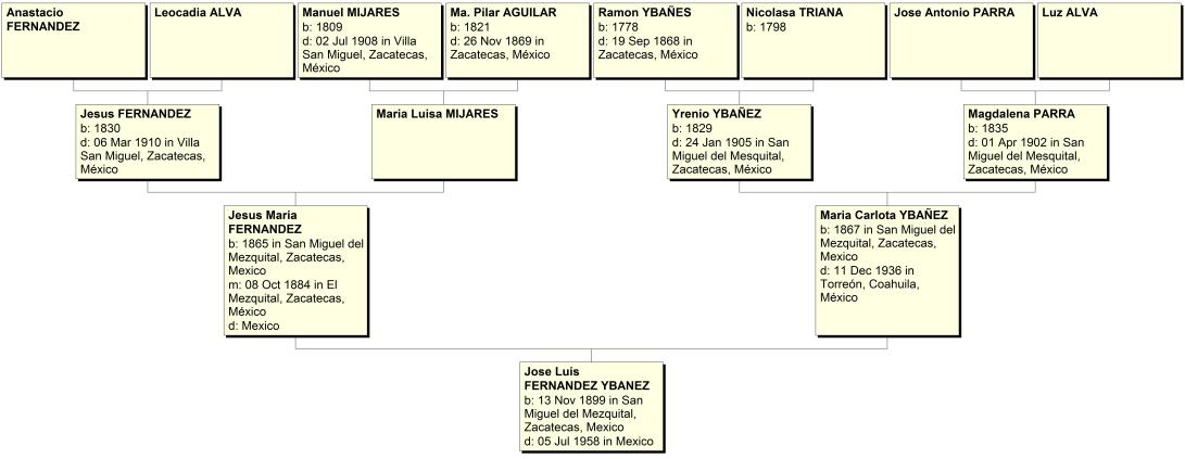 Ancestors of Jose Luis Fernandez Ybanez