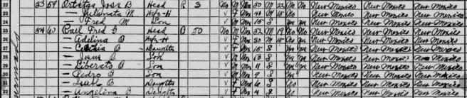 Adelina Ortega & Federico Rael 1930 census